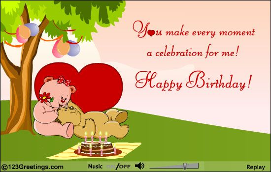 My 62nd birthday card from my sweetie heart touching moments make him feel special with this sweet romantic birthday ecard free online romantic birthday message ecards on birthday bookmarktalkfo Images