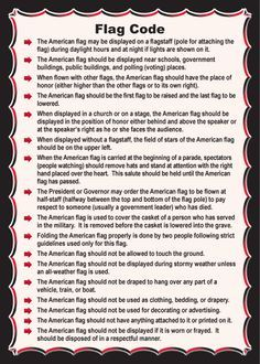 How To Properly Handle The Flag Of The United States Of America Flag Code American Flag American History Timeline