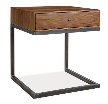 Hudson C Table Nightstand Mid Century Modern Nightstands