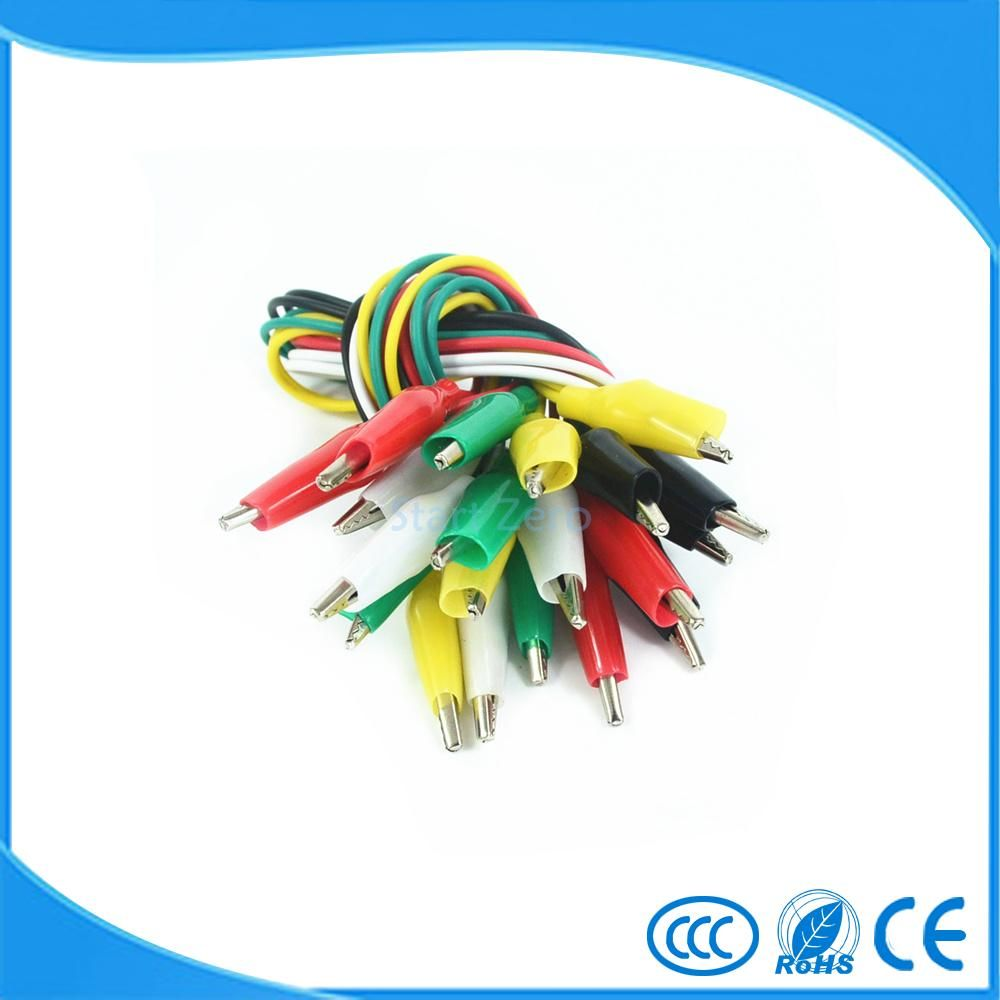 Hot 10pcs Alligator Clips Electrical DIY Test LeadsAlligator Double ...