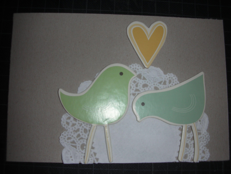 Hochzeitskarte  #cosmocricket #doily