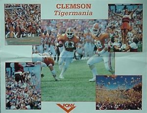 1985 Clemson Football Tigermania Poster Kenny Flowers Ebay Clemson Football Clemson Football