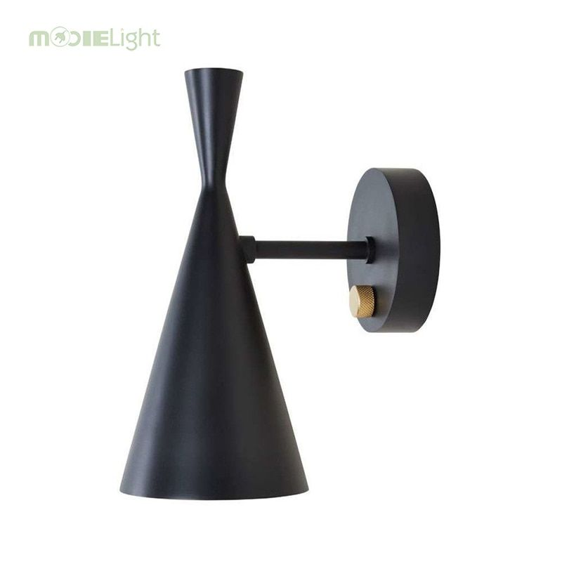 Modern Tom Dixon Beat Light Wall Lamp Instrument Lights For Living Room Bedroom Bedside Lamp Home Lighting Fixtures Decoration Black Wall Sconce Wall Sconce Lighting Wall Lights