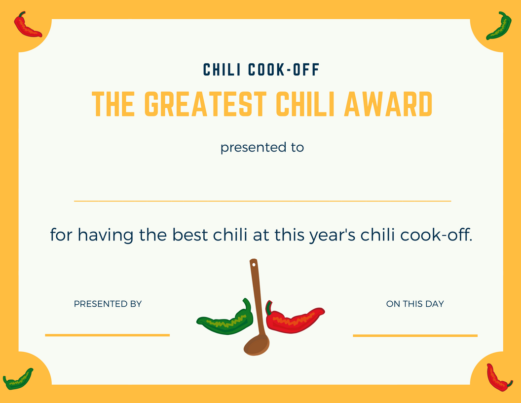 chili cook off award certificate template - pin by malissa lowe on chili cook off pinterest chili