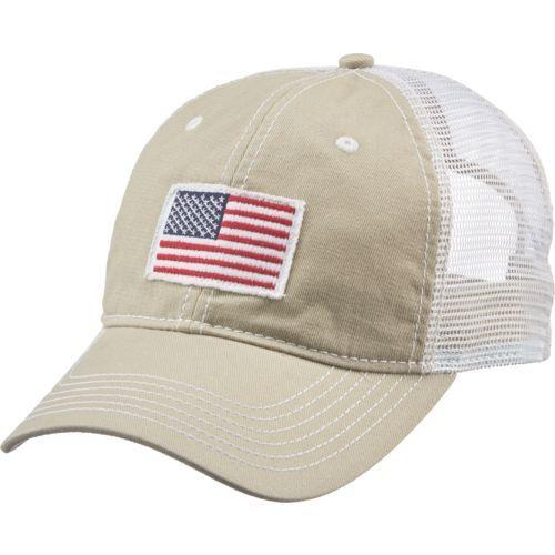 823040b0 Academy Sports + Outdoors Men's American Flag Trucker Hat (Red Dark ...