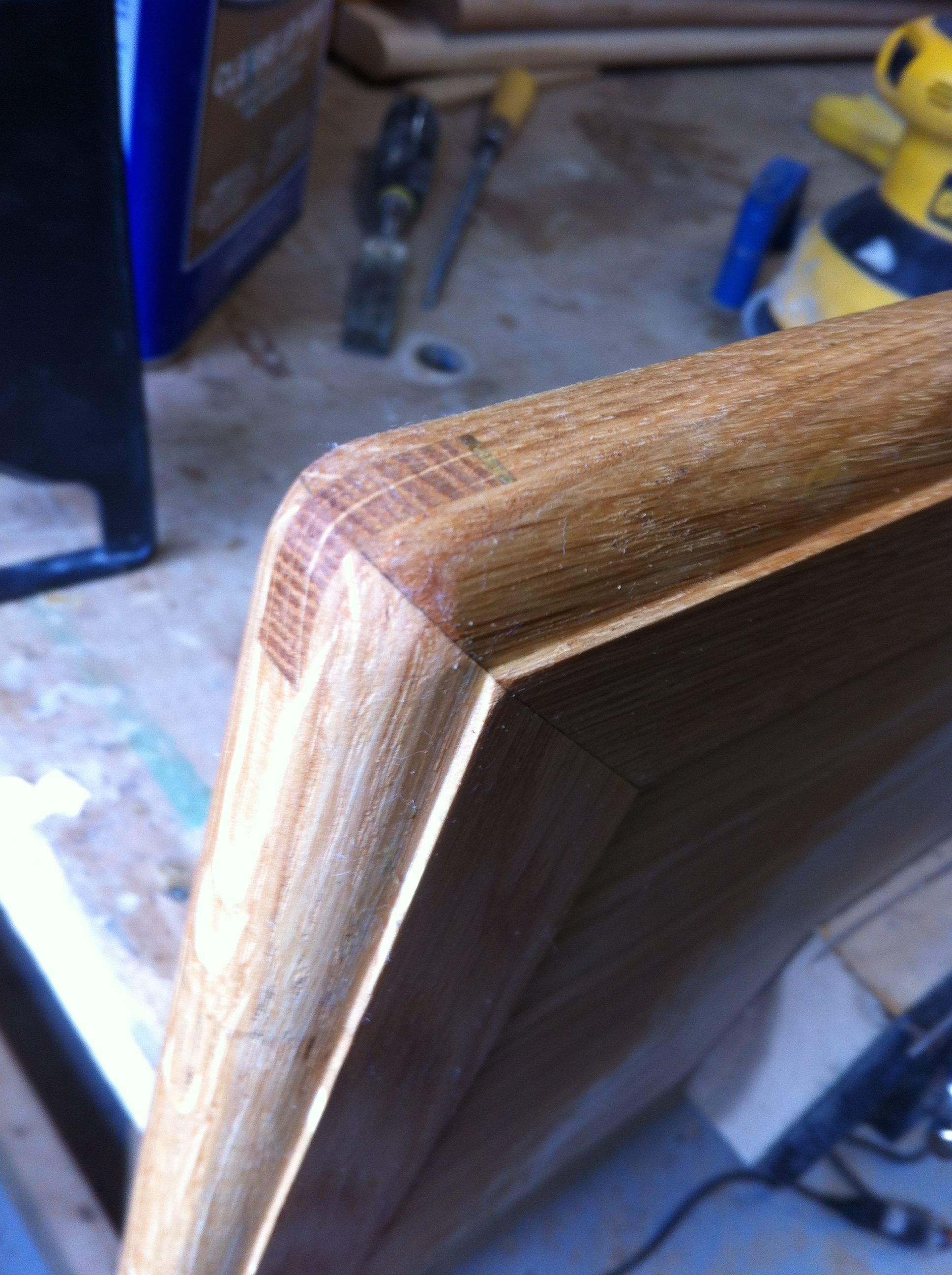 One Of The Steps In Detailing The Stair Treads Requires Burnishing The  Mitered And Splined Corners