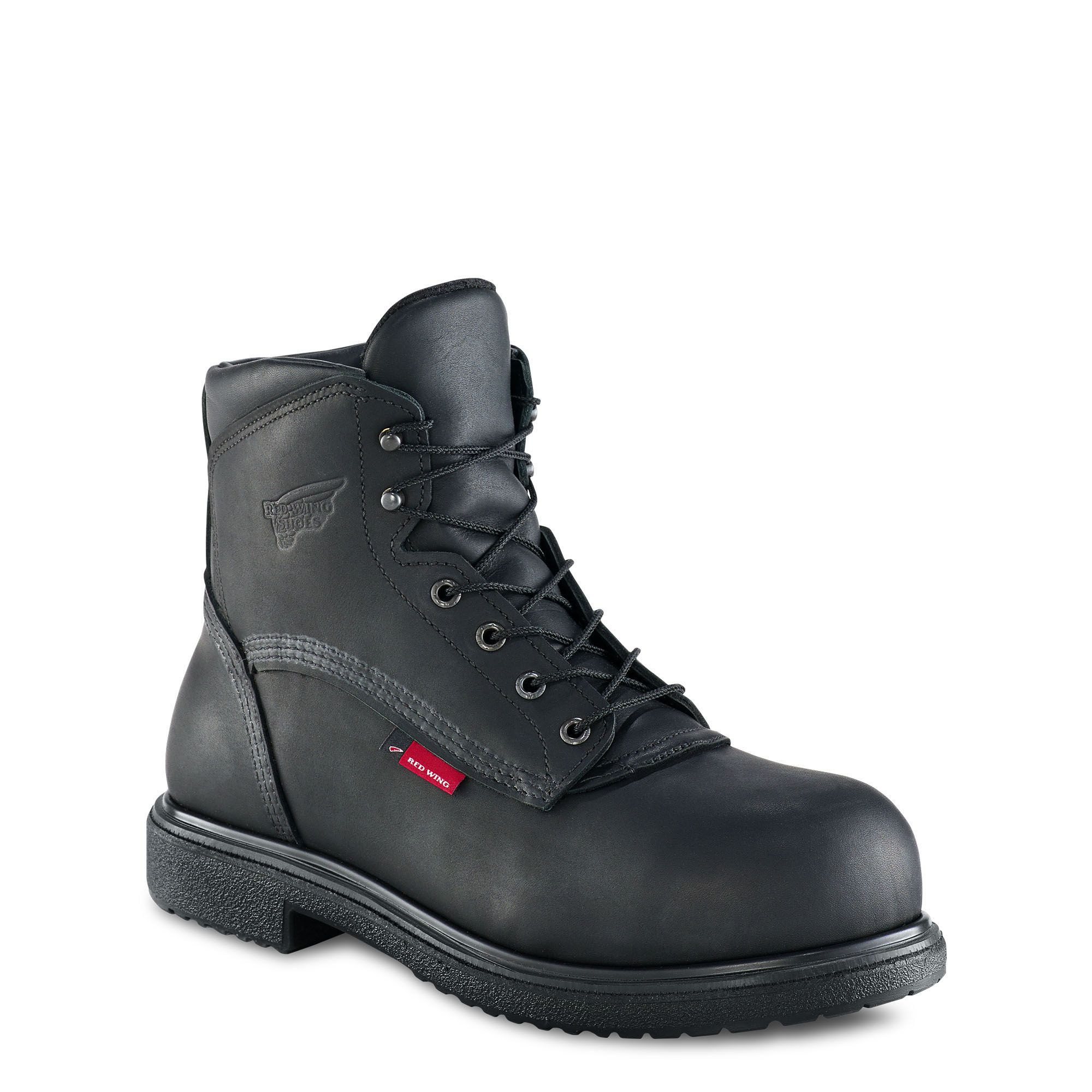 Red Wing 6 Inch Safety Boot Black Black boots, Boots