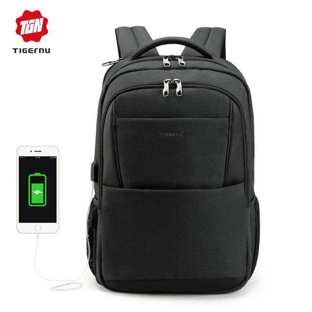 Tigernu  men  backpack  anti  theft  USB  charging  15.6  Laptop  bag   mochilas  escolar  feminine  male  bagpack  notebook  college  schoolbag   ac4e3c90437d8