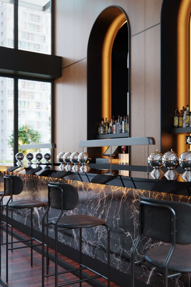 Castell Rooftop Bar Luxury Bar Design Luxury Bar Bar Design Restaurant