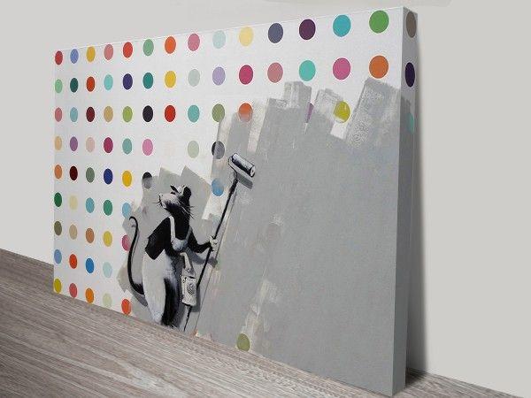 Roller Rat - Banksy Defaced Hirst | Canvas Art prints
