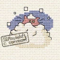 MOUSELOFT STITCHLETS CROSS STITCH KIT ~ ...ADVISED TO STAY INDOORS CAT ~  NEW