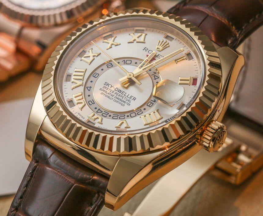 Rolex Sky-Dweller Watch: New Gold Colors Hands-On | aBlogtoWatch