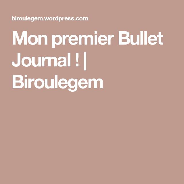 Mon premier Bullet Journal ! | Biroulegem