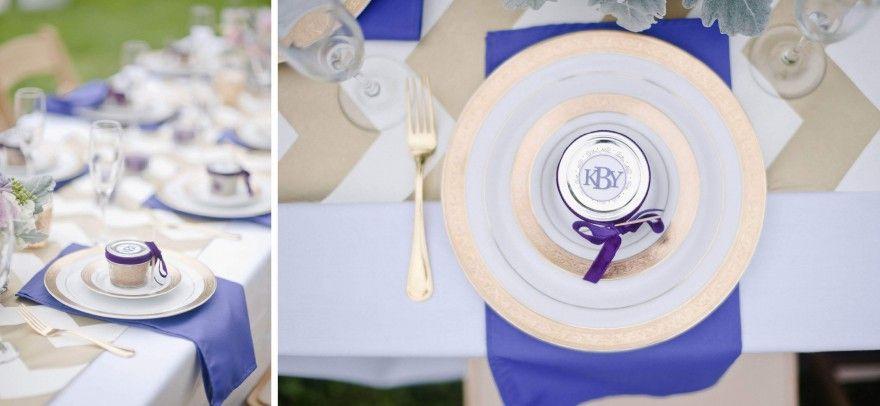 Gold Plates Purple Wedding Favors Silverware Flatware Hillsborough Nc Ayr Mount