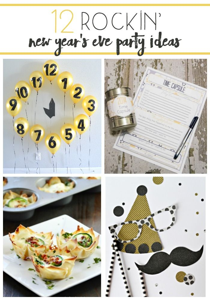 12 Rockin\' New Year\'s Eve Party Ideas | Holidays and Holiday fun