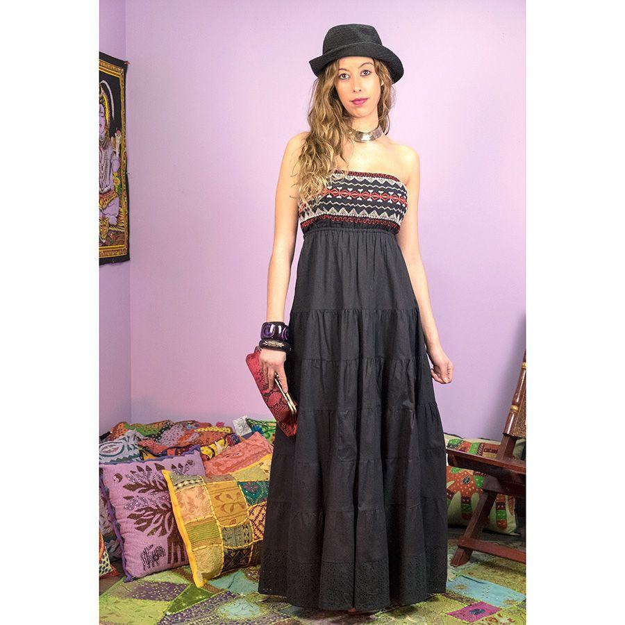 Vestido largo hippie | Ropa hippie | Pinterest | Ropa hippie ...