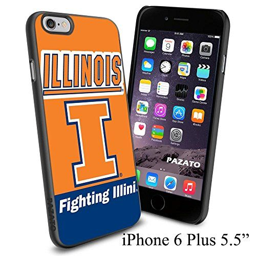 "NCAA I ILLINOIS FIGHTING ILLINI , Cool iPhone 6 Plus (6+ , 5.5"") Smartphone Case Cover Collector iphone TPU Rubber Case Black Phoneaholic http://www.amazon.com/dp/B00VW6PILW/ref=cm_sw_r_pi_dp_nPhnvb0BTKTC3"