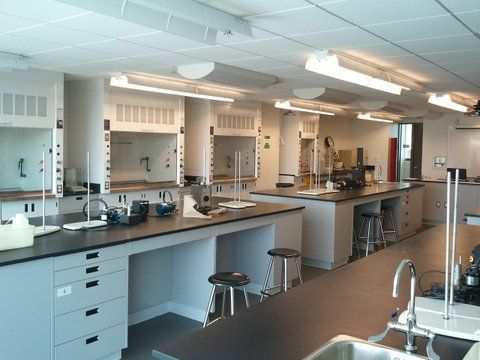 CEGEP John Abbott College Montreal Chemistry Laboratories Wall Hoods On Opposite