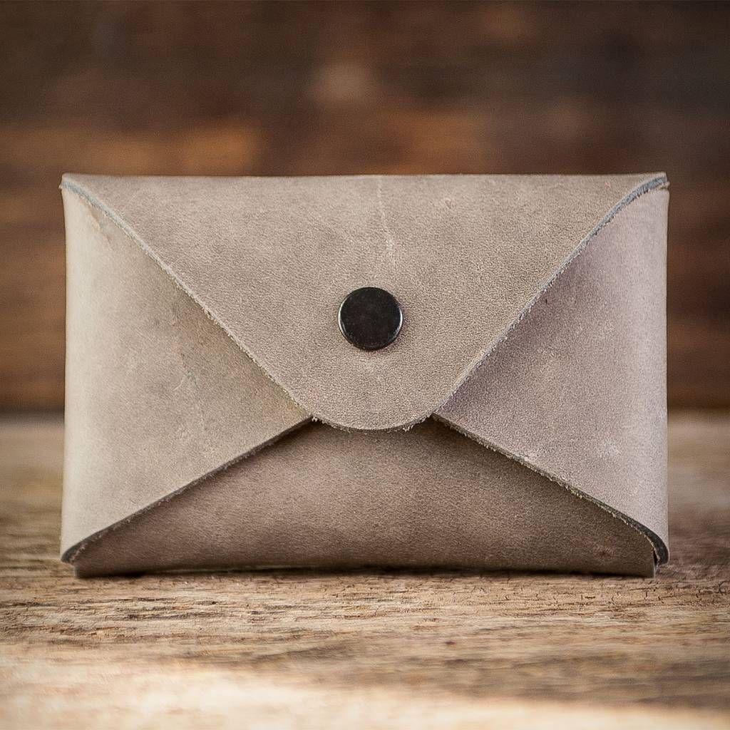 Leather Case Sleeve For Business Cards Erstkontakt