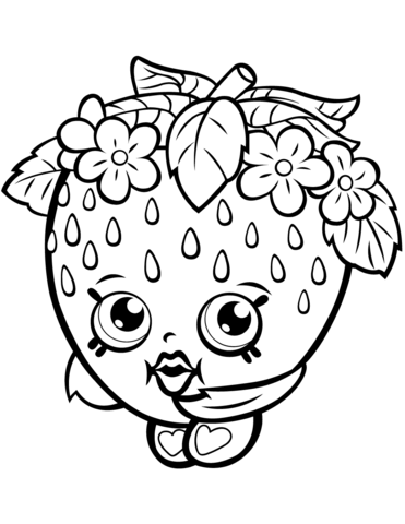 Strawberry Kiss Shopkin Malarbok Shopkins Coloring Pages Free Printable Halloween Coloring Pages Shopkins Colouring Pages