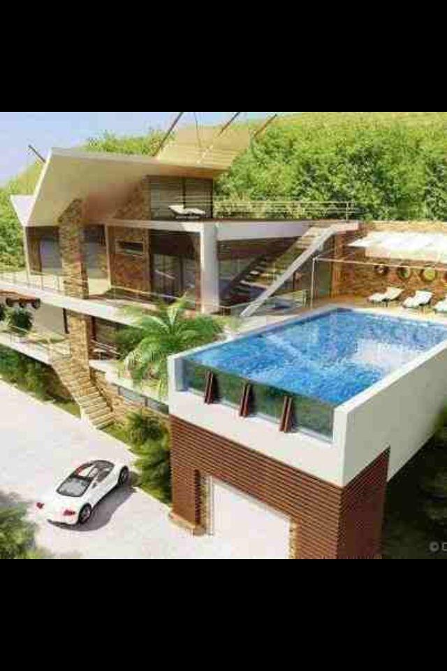 Swimming Pool Above Garage Thats Kinda Cool Apartment Terrace