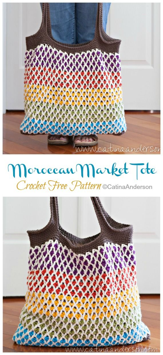 Photo of Moroccan Market Tote Bag Crochet Free Pattern – Crochet & Knitting