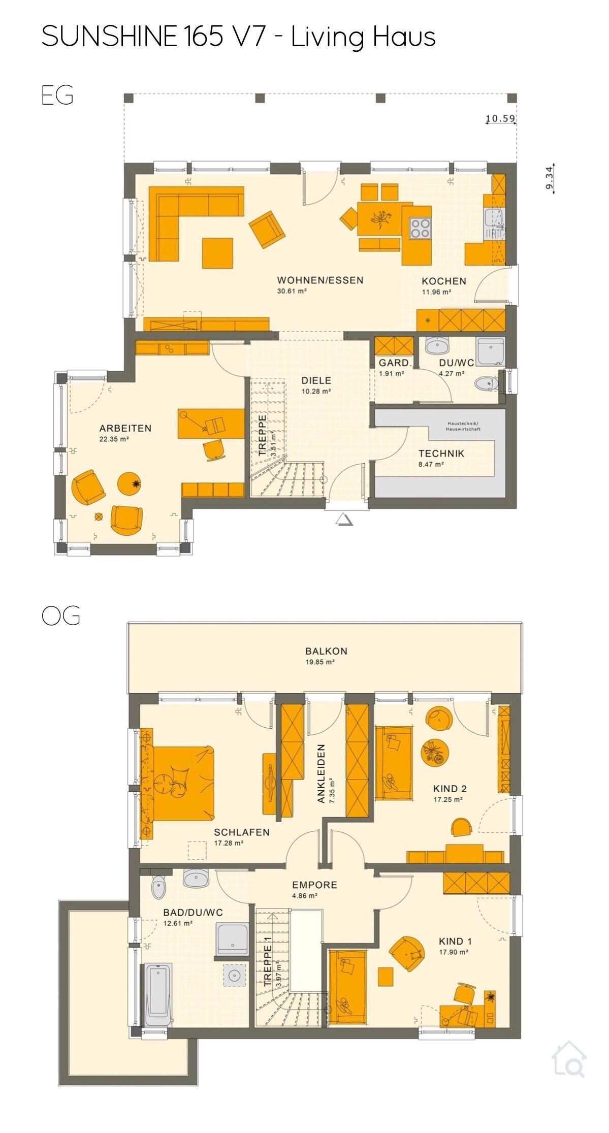 Grundriss Stadtvilla modern mit Flachdach Architektur 5