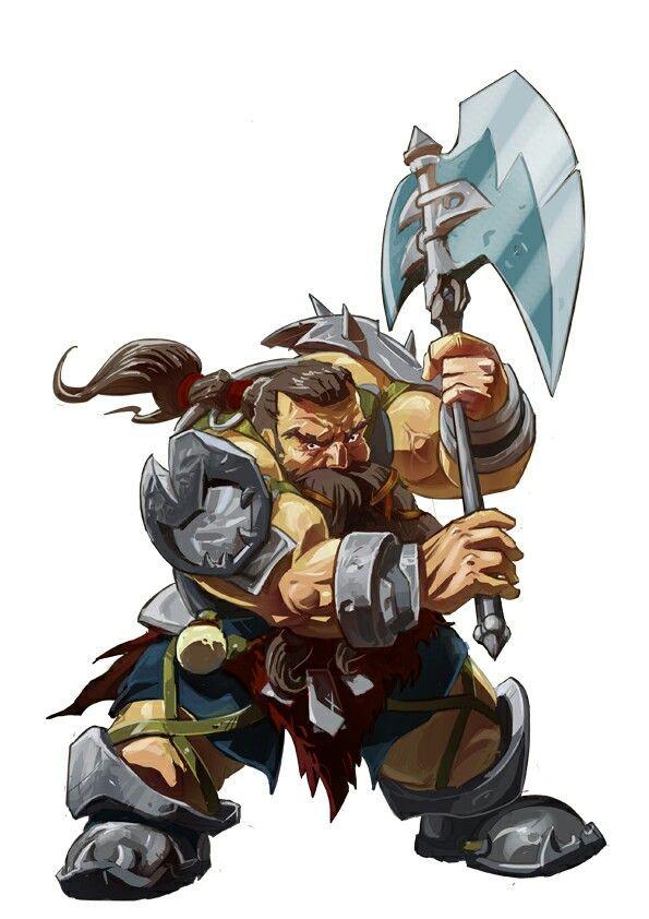 Dwarf Fighter - Pathfinder RPG PFRPG DND D&D d20 fantasy