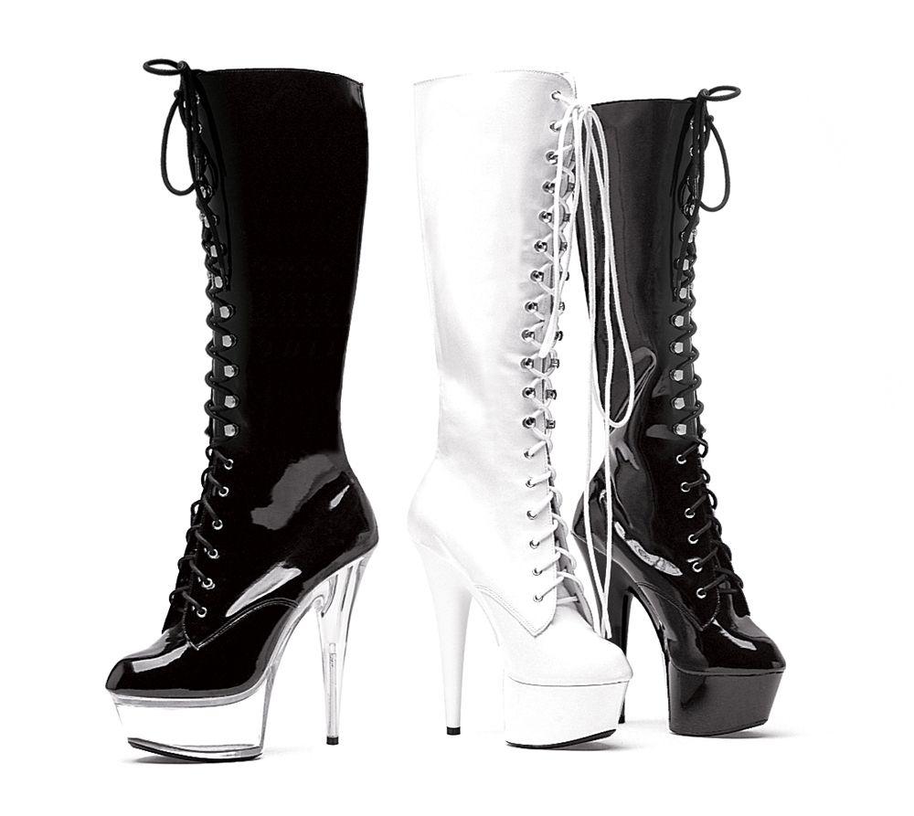 """6"""" Pointed Stiletto Knee Boot W/Inner Zipper."""