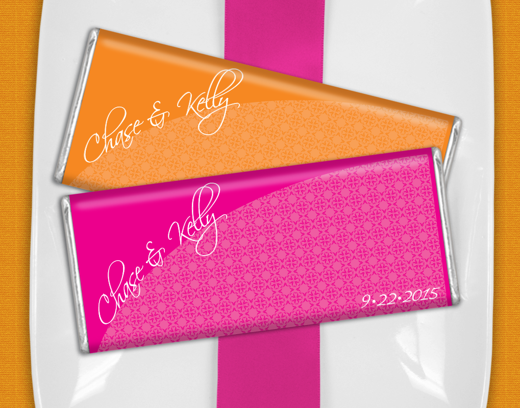 Hot Pink + Bright Orange Wedding Favor Ideas - Personalized ...