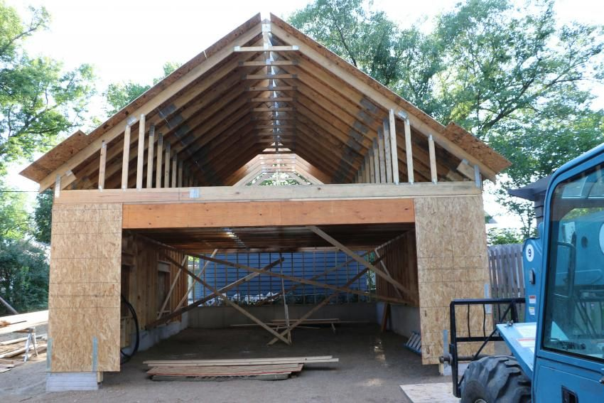 New 24 X34 Detached Garage With Attic Trusses Page 2 The Garage Journal Board Attic Truss Garage Attic Storage Garage Attic