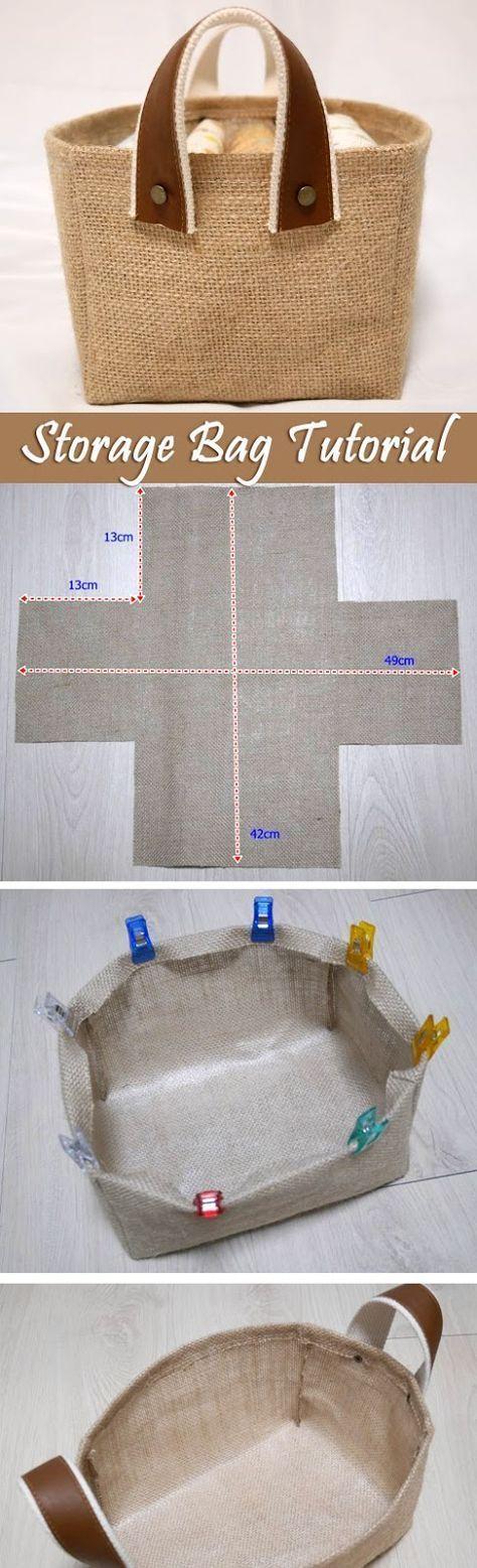 Storage Fabric Box Tutorial