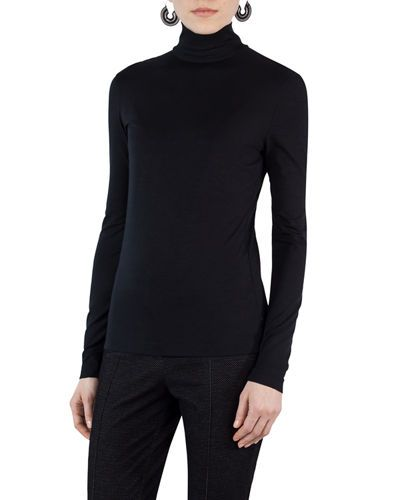 94b897a6de89bc AKRIS PUNTO STRETCH-MODAL TURTLENECK SWEATER.  akrispunto  cloth