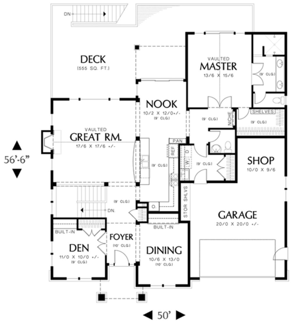craftsman style house plan 3 beds 2 5 baths 2795 sq ft plan 48