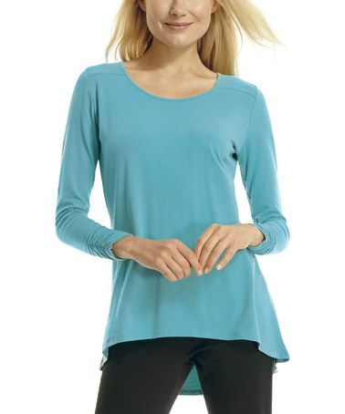 Another great find on #zulily! Surf Shirred Hi-Low Tunic by Blue Canoe #zulilyfinds