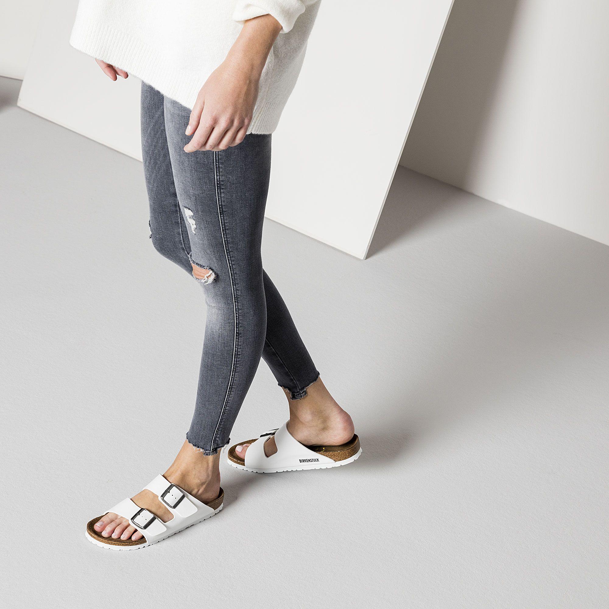 7357d8bb4f6b0d Arizona Birko-Flor White (White Sole) Birkenstock Style