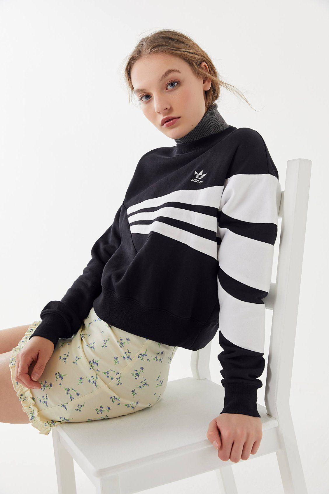 1246114a adidas Geometric 3-Stripes Cropped Sweatshirt in 2019 | New Arrivals ...