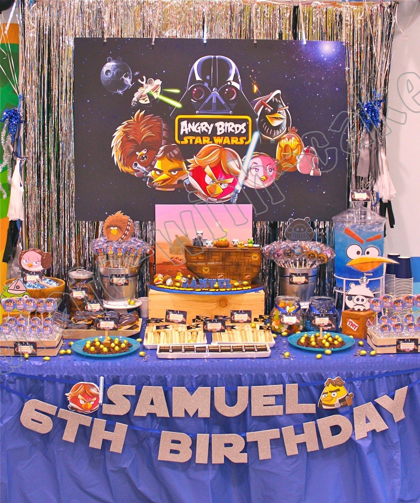 Celebrate With Cake Angry Birds Star Wars Dessert Table