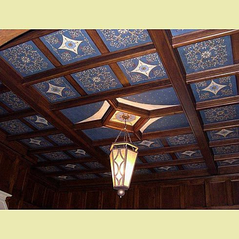 Stencil A Coffered Ceiling Like A Pro False Ceiling Living Room