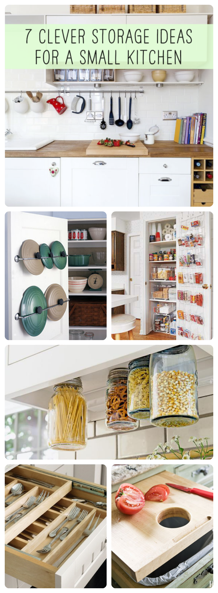 Clever Storage For Small Kitchens 7 Clever Storage Ideas For A Small Kitchen Jars Small Kitchens