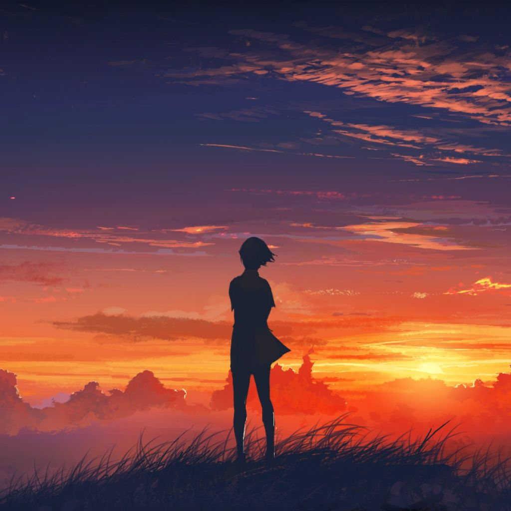 lonely girl at sunset ipad wallpaper | emo goth sad | pinterest