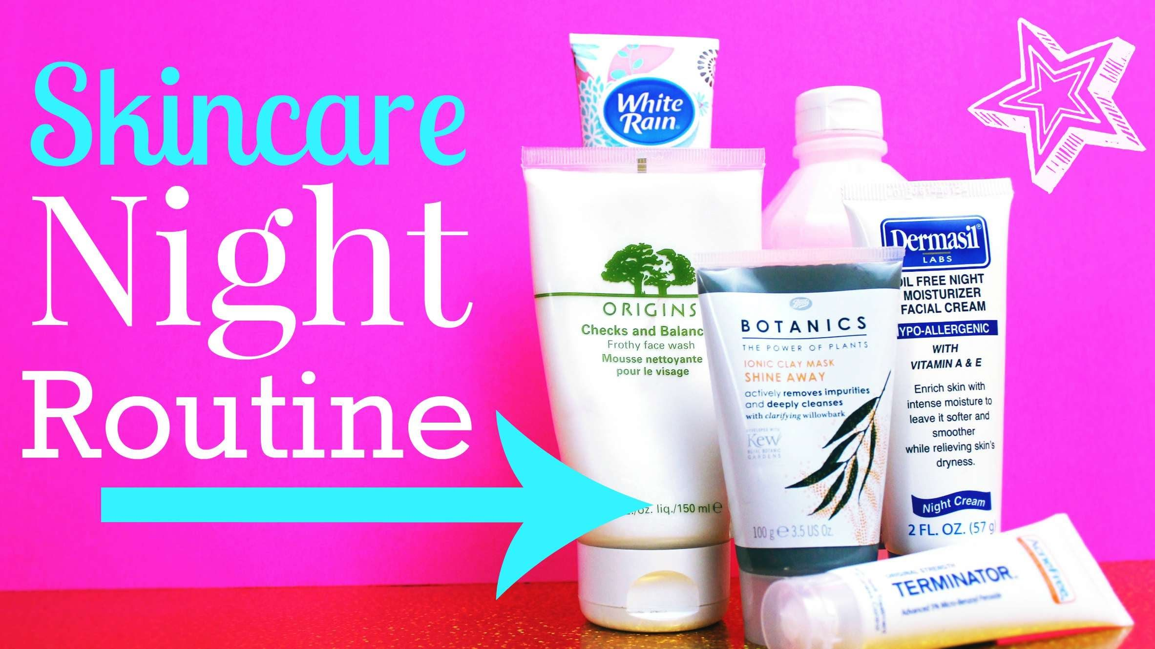 Skincare Night Routine Facial cleanser makeup remover