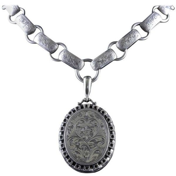 Preowned antique victorian silver locket collar dated 1880 927 preowned antique victorian silver locket collar dated 1880 927 liked on polyvore featuring aloadofball