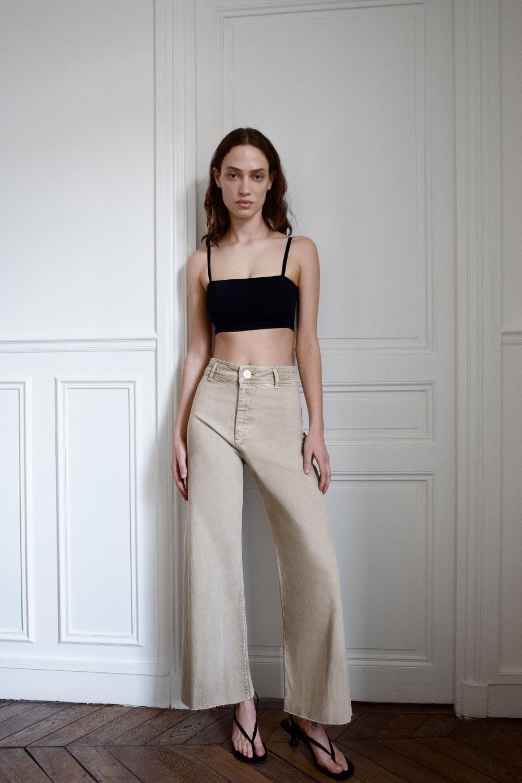 Jeans Zw Premium Marine Straight Zara Espana Jeans Rectos Ropa De Moda Ropa