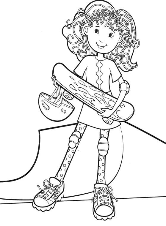 groovy girls like to play skateboard coloring pages groovy girls coloring pages kidsdrawing