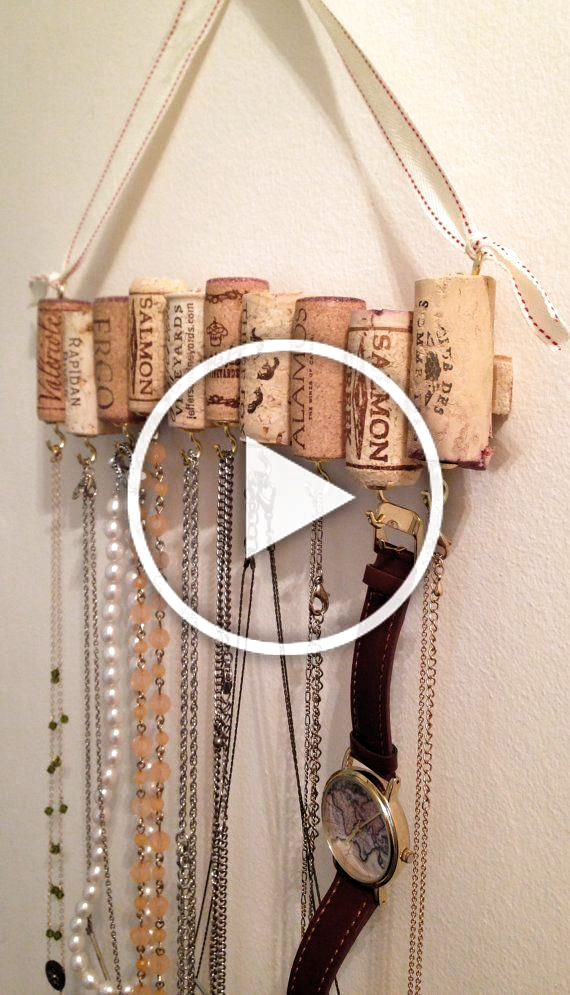 Photo of Weinkorken Halsband Rack #Jewellery #Diy #Fimo #Diy #Storage