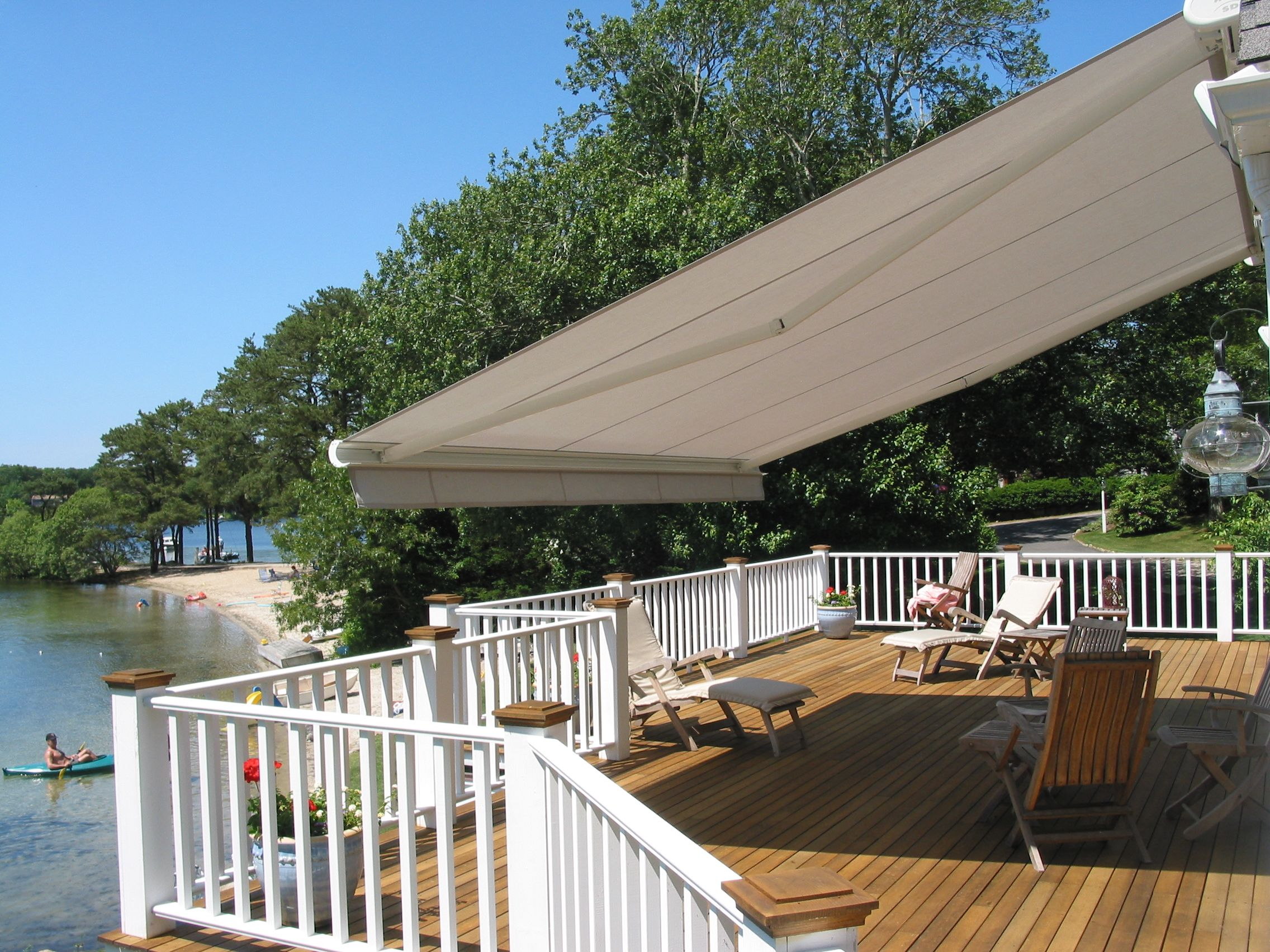Retractable awnings come in 1000s of color style and feature combinations motorized retractable awnings are a huge hit