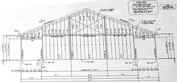An Example Of An Endwall Framing Diagram From Kodiak Steel