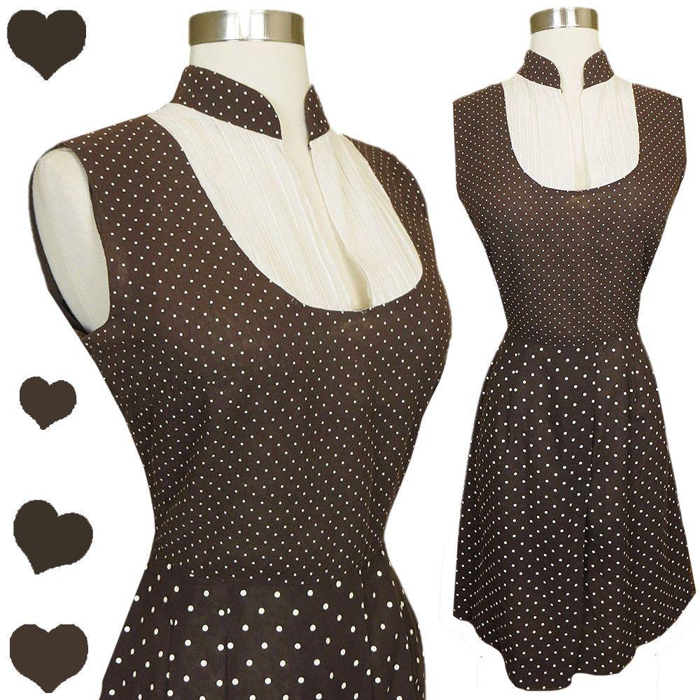 Vintage 60s Polka Dot Dress Size M