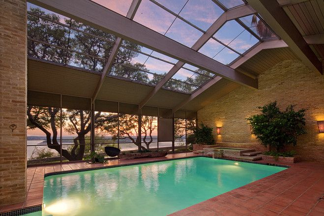 Homes With Indoor Pools Indoor Pool House Pool Houses Indoor Swimming Pool Design